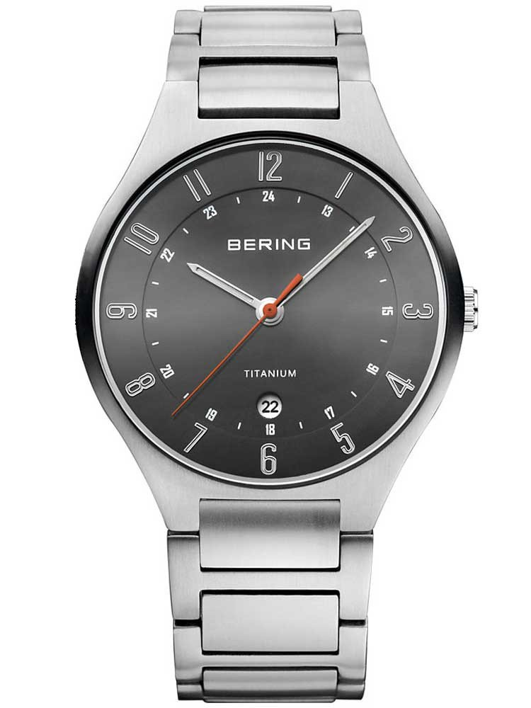 Bering 11739-772 Titanium Men's 39mm 5 ATM