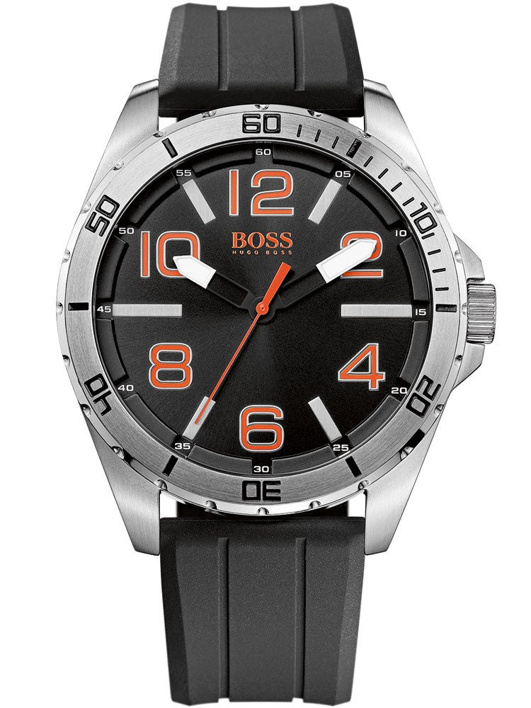 BOSS Orange 1512943 Men's Black Silver Orange 48 mm