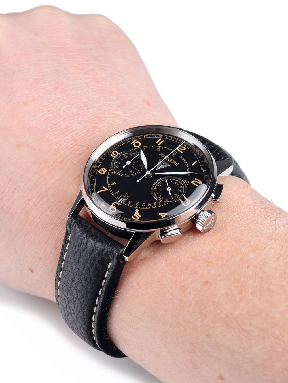 Junkers G38 Chronograph 6970-5 Black 42 mm 10 ATM