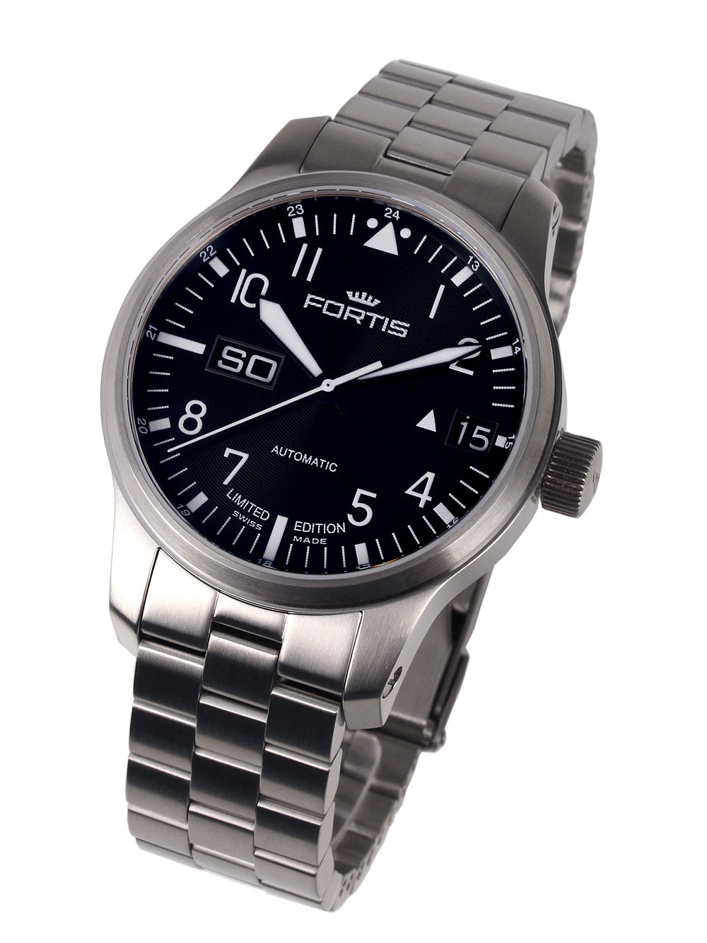 Fortis 700.10.81 M F-43 Aviator Big Day-Date 43 mm 20 ATM