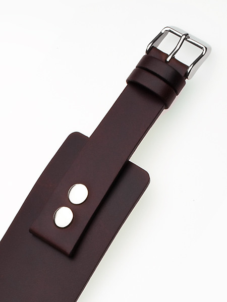 Perigaum Replacement Strap for P-0701 u. P-0702 20 x 260 mm Brown Silver Clasp
