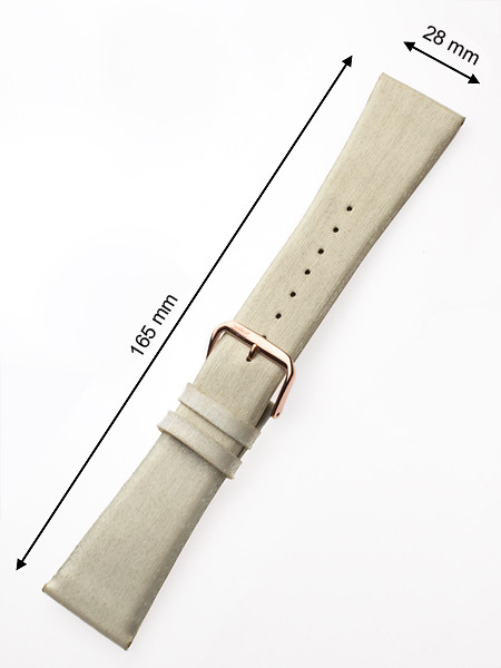 Perigaum Textile-leather-strap 28 x 165 mm champagner Rose Clasp
