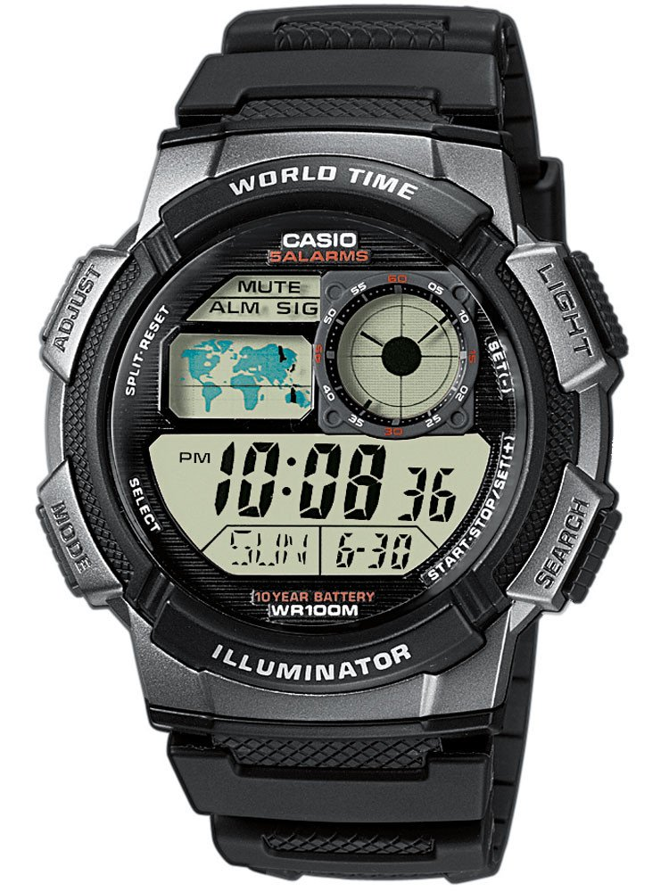 CASIO AE-1000W-1BVEF Collection 44mm 10 ATM