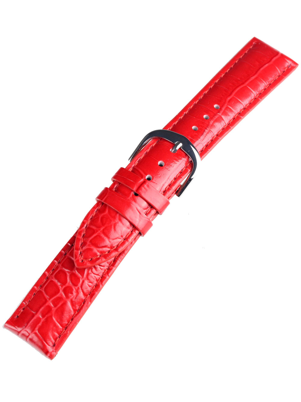 Bossart universal Replacement Strap Leather 20 mm Red, croco
