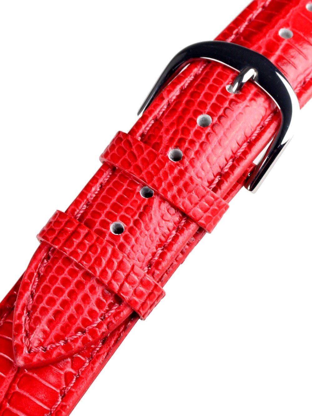 Bossart universal Replacement Strap Leather 20 mm Red, snake