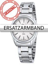 Bossart Replacement Strap steel BW-1310 Ladies Silver