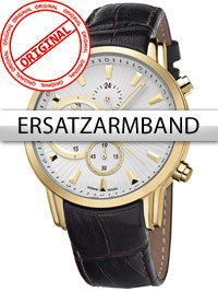 Bossart Replacement Strap Leather BW-1104 Brown Gold Clasp