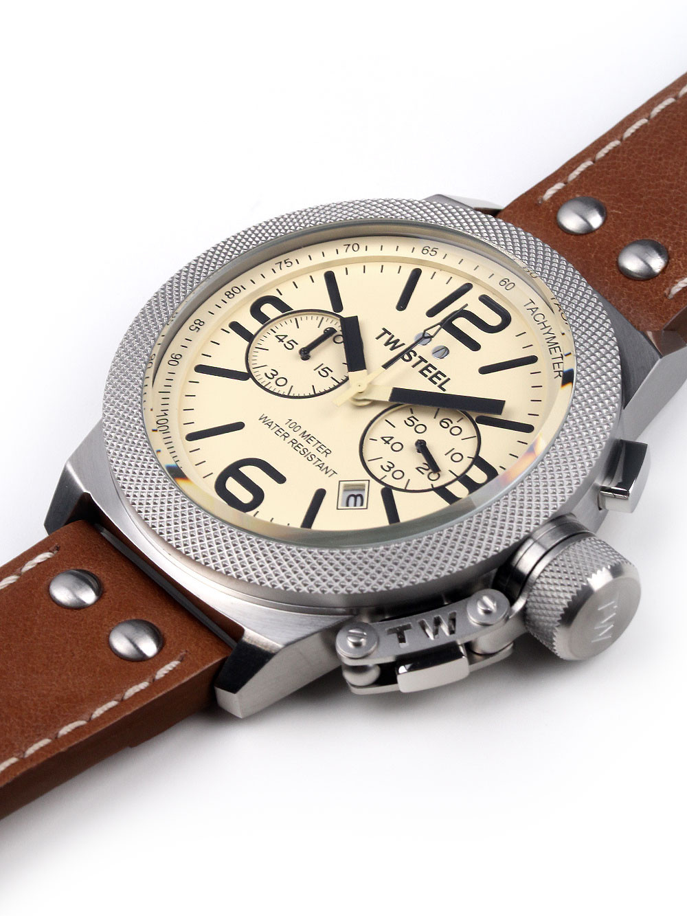 TW Steel CS14 Canteen Leather Chronograph 50mm 10 ATM