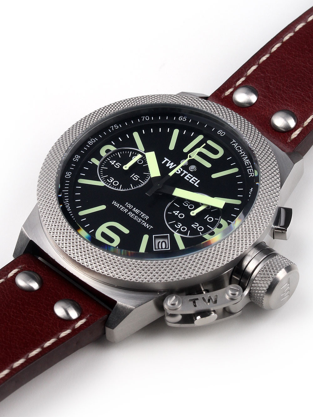 TW Steel CS23 Canteen Leather Chronograph 45mm 10 ATM