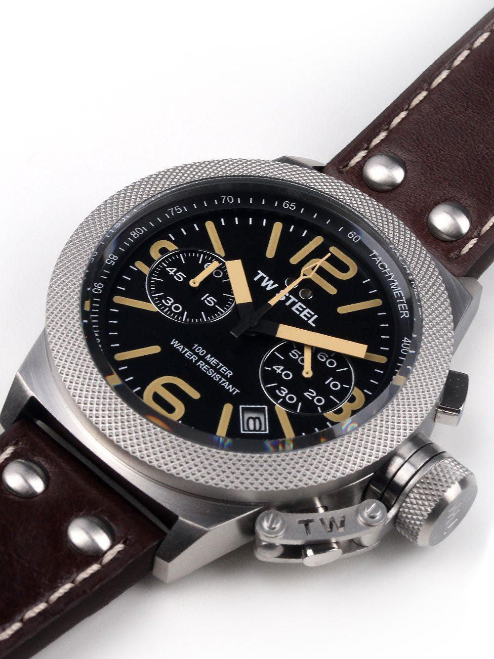 TW Steel CS33 Canteen Leather Chronograph 45mm 10 ATM
