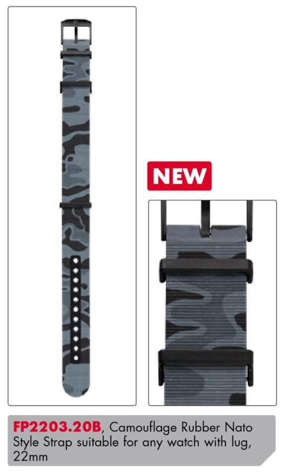 Luminox PU Replacement Strap FP2203.20B [22 mm] Camouflage + black Buckle