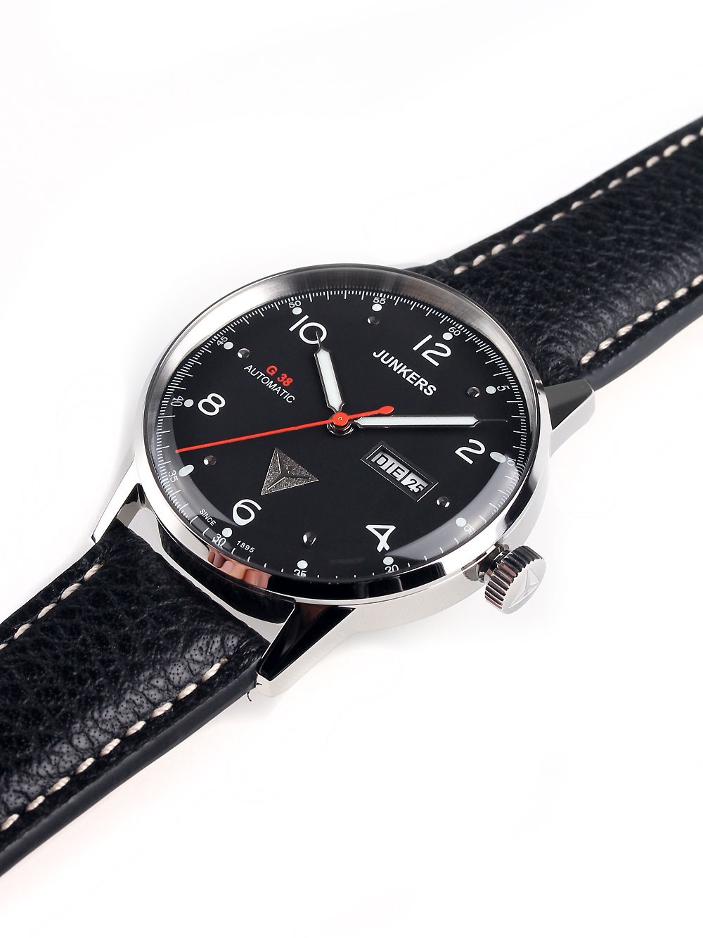Junkers G38 6966-2 Day-Date Automatic Black Silver 10 ATM 42 mm
