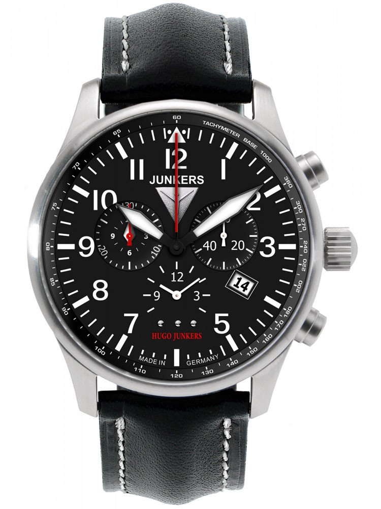 Junkers Hugo 6684-2 Men's Watch Alarm Chronograph