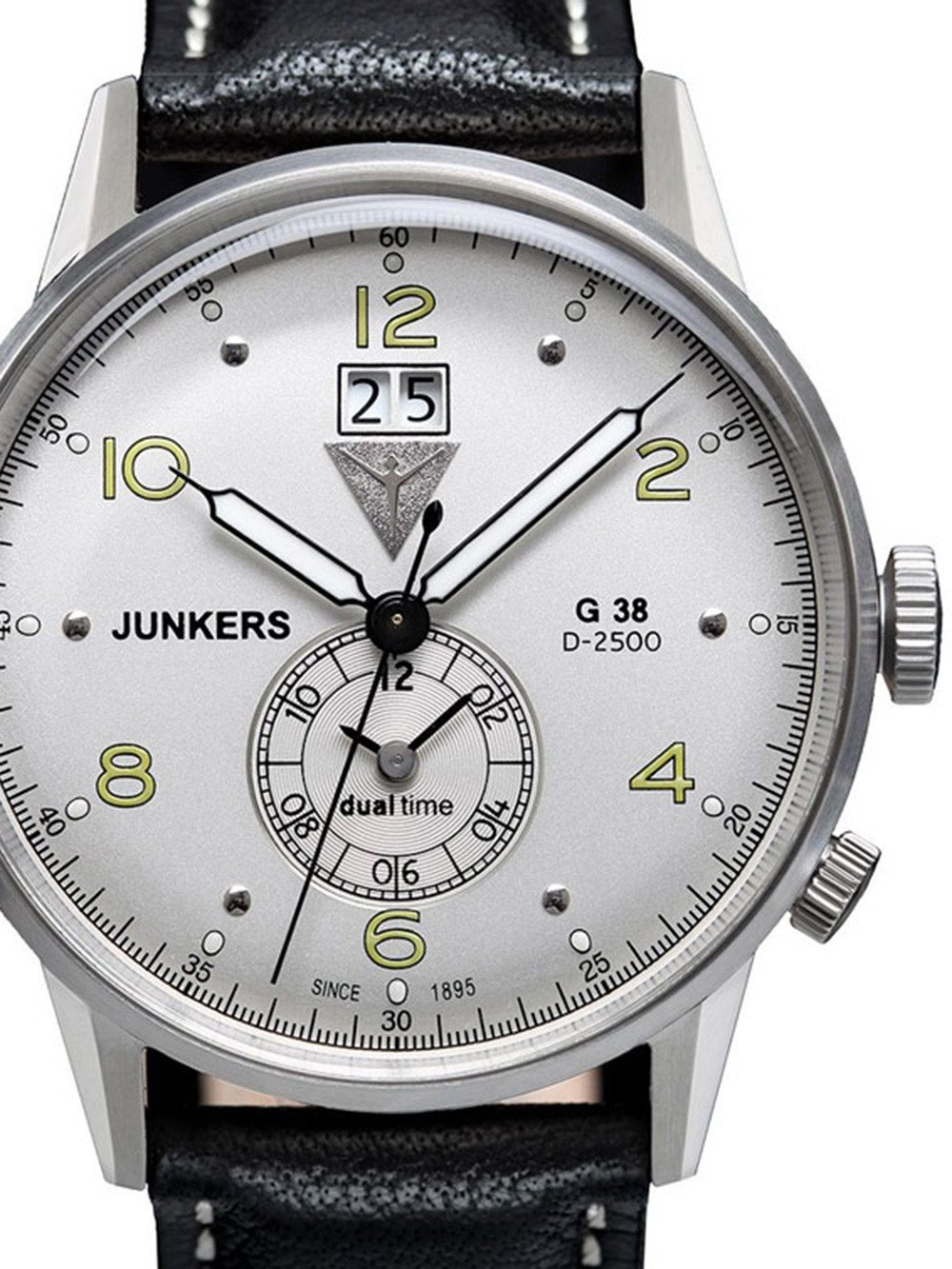 Junkers 6940-4 G38 Dual-Time Men's 10 ATM 42 mm