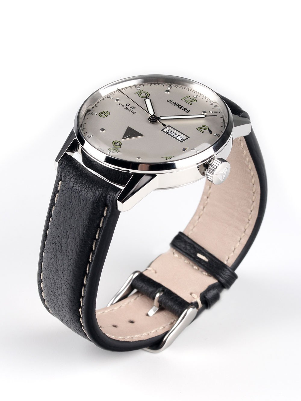 Junkers G38 6966-4 Day-Date Automatic Silver Black 10 ATM 42 mm