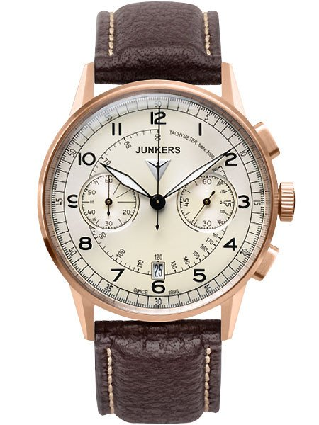 Junkers G38 6972-1 Chronograph Gold Brown 42 mm 100M