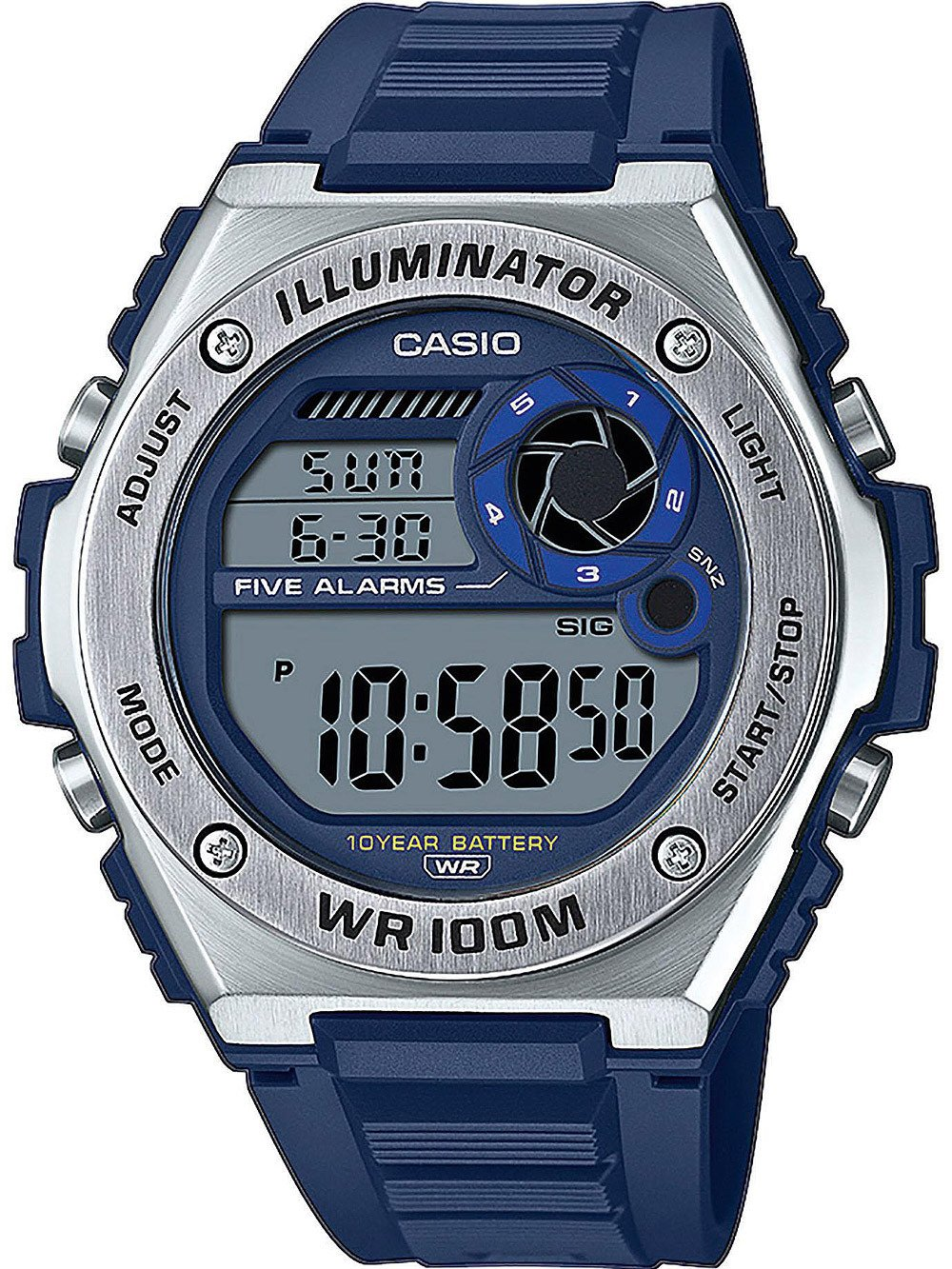 Casio MWD-100H-2AVEF Collection men`s 50mm 10ATM