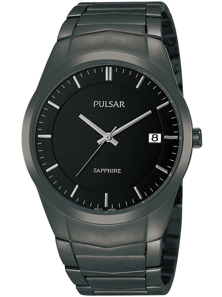 Pulsar PS9141X1 Men's Watch Black with Sapphire Glass