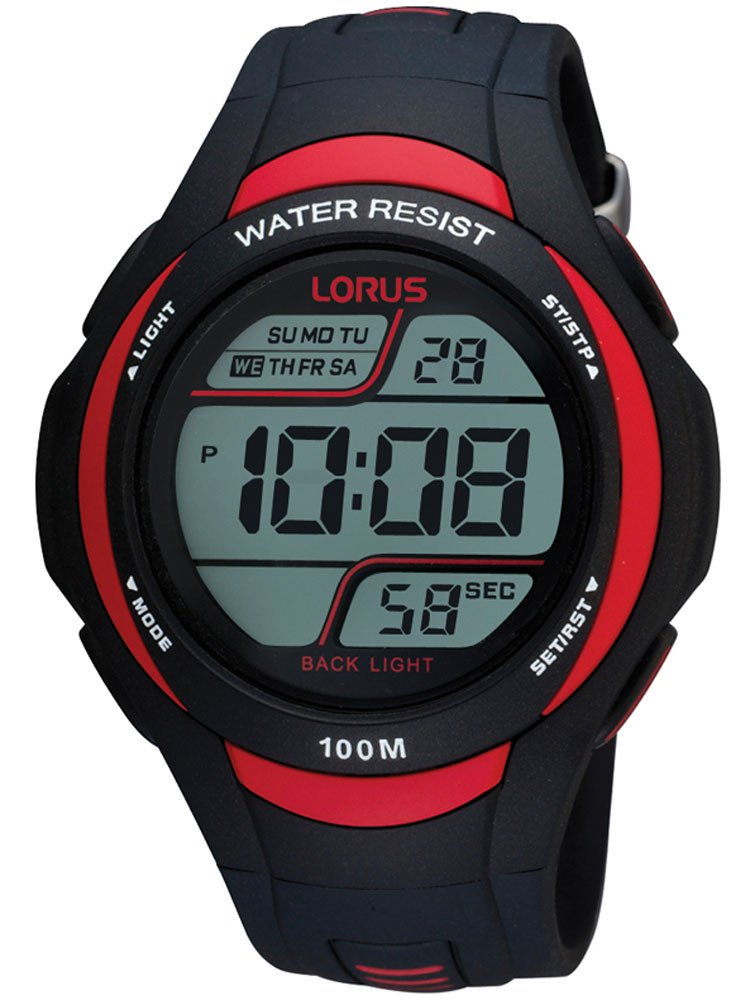 Lorus R2307EX9 Men's Digital-Watch 10 ATM 46 mm