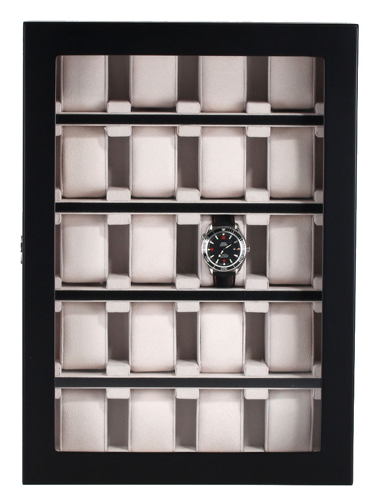 Rothenschild Watch Showcase RS-1100-20BL for 20 Watches Black