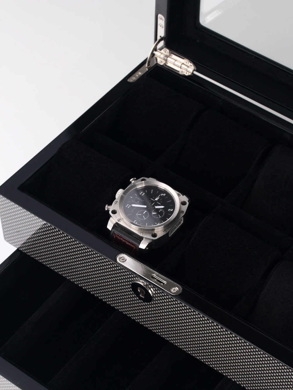 Rothenschild Watch Box RS-2268-8CA for 8 Watches carbon