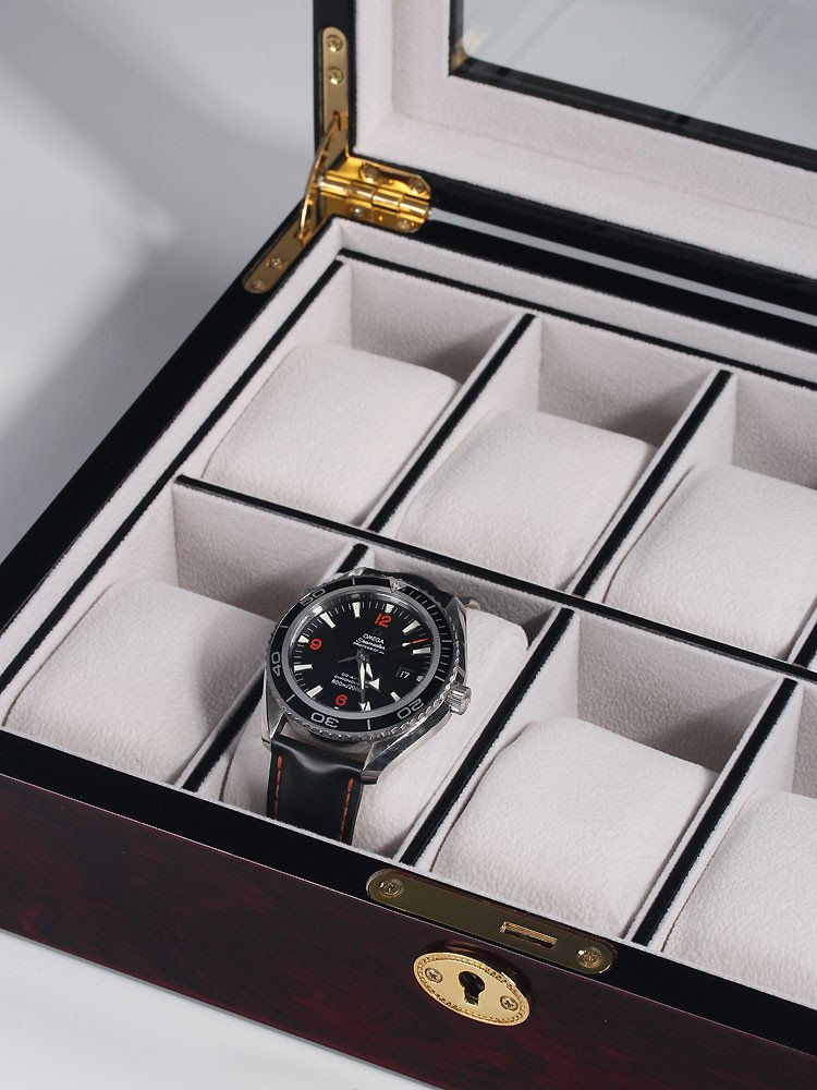 Rothenschild Watch Box RS-2031-DC for 10 Watches Dark Cherry