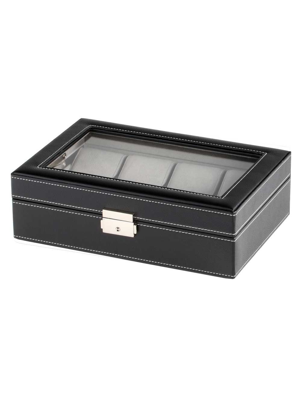 Rothenschild Watch Box RS-3361-8BL for 8 Watches Black