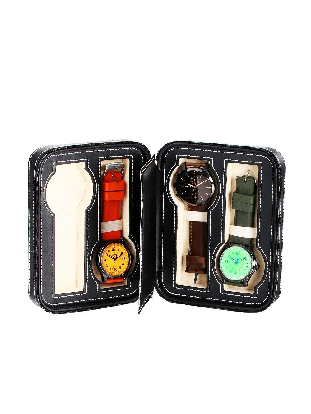 Rothenschild Watch Showcase RS-1150-4BL for 4 Watches Black