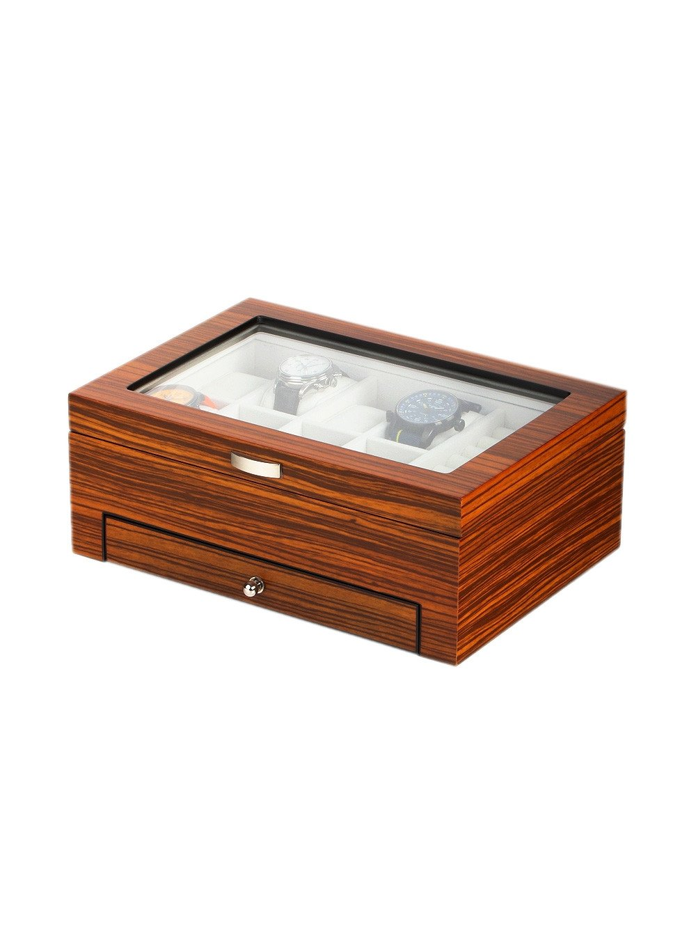 Rothenschild Watches & Jewellery Box RS-2271-8Z for 8 Watches Zebra