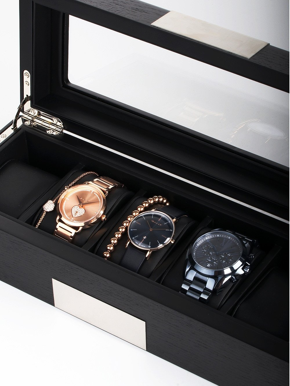Rothenschild Watch Box RS-2350-5BL for 5 Watches Black