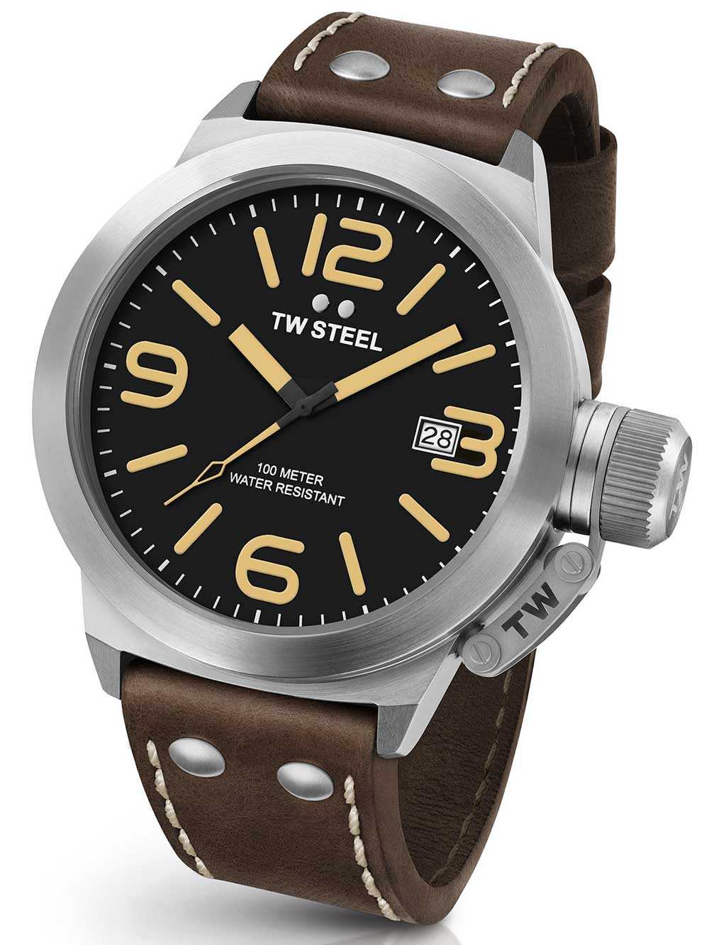 TW Steel CS31 Canteen Leather 45mm 10 ATM