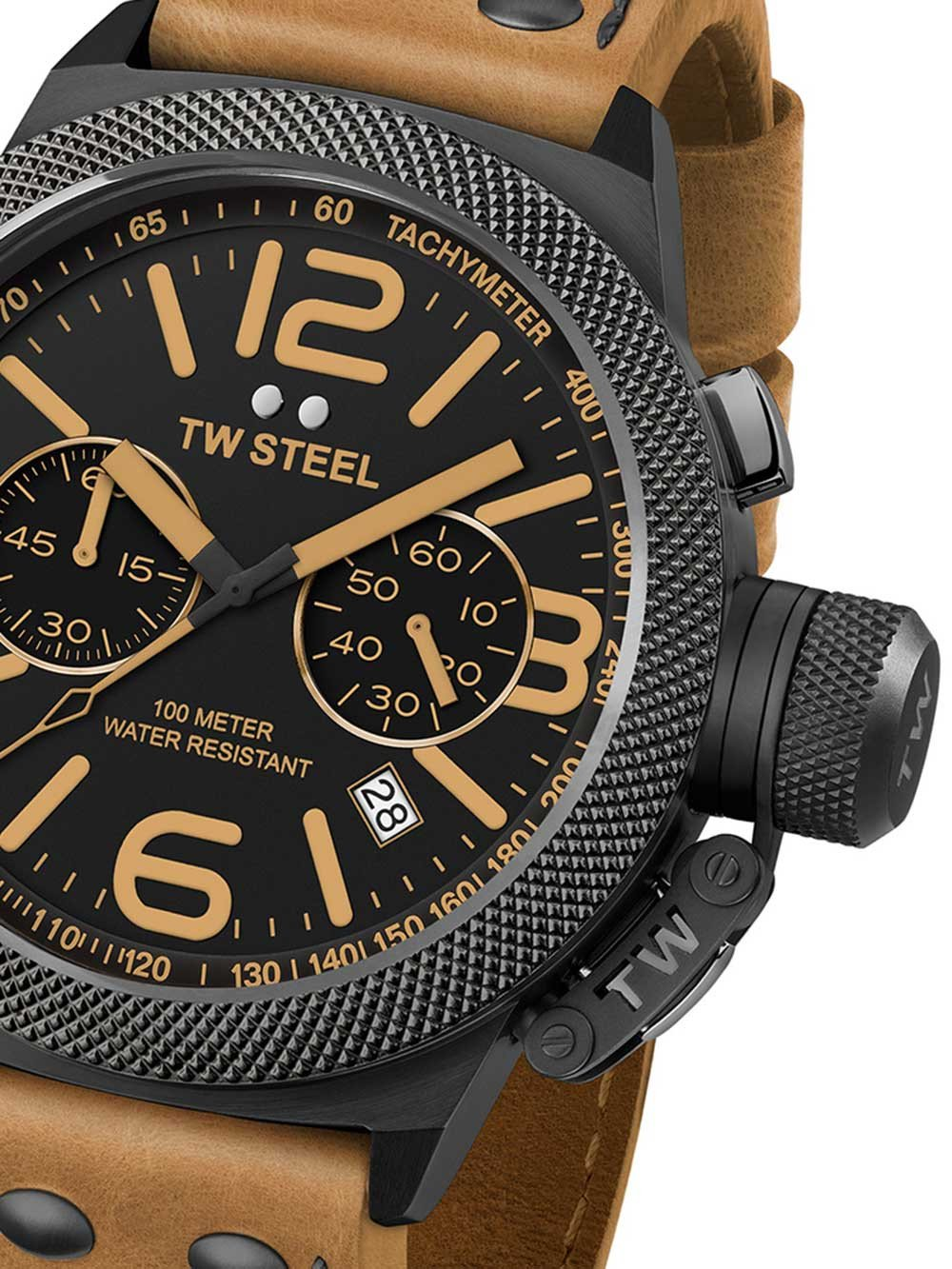 TW Steel CS44 Canteen Leather Chronograph 50mm 10 ATM