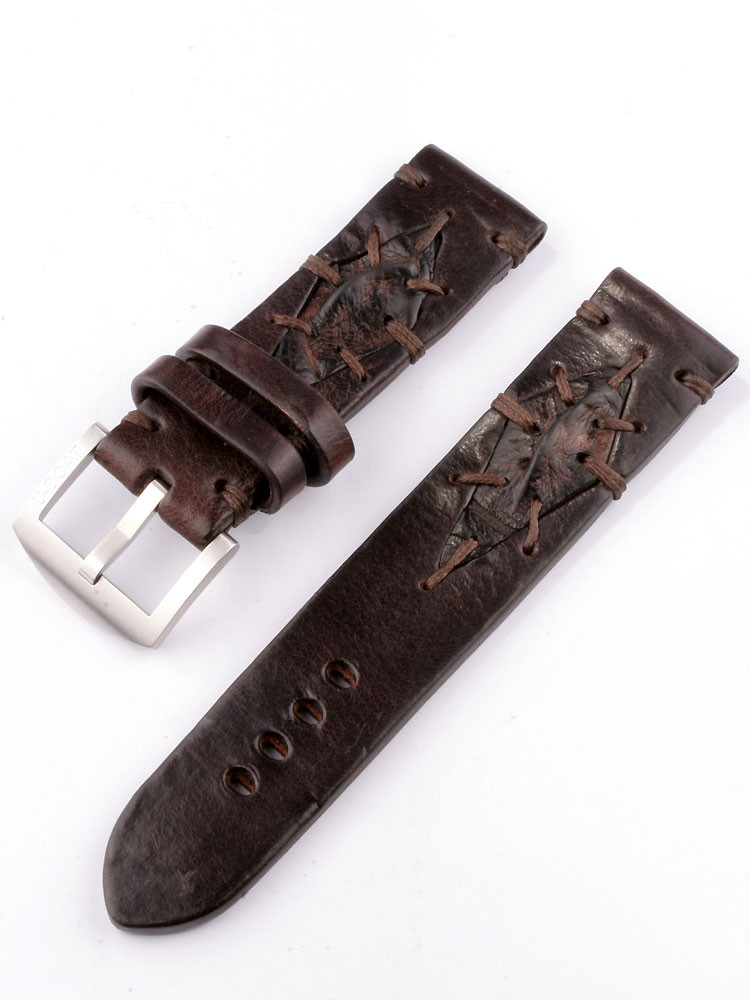 U-Boat Replacement Strap Vintage Collection 7283 Brown 23/22 SS calfskin leather