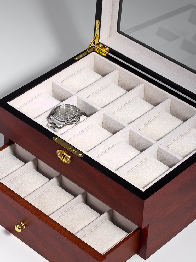 Rothenschild Watch Box RS-1672-20C for 20 Watches Cherry