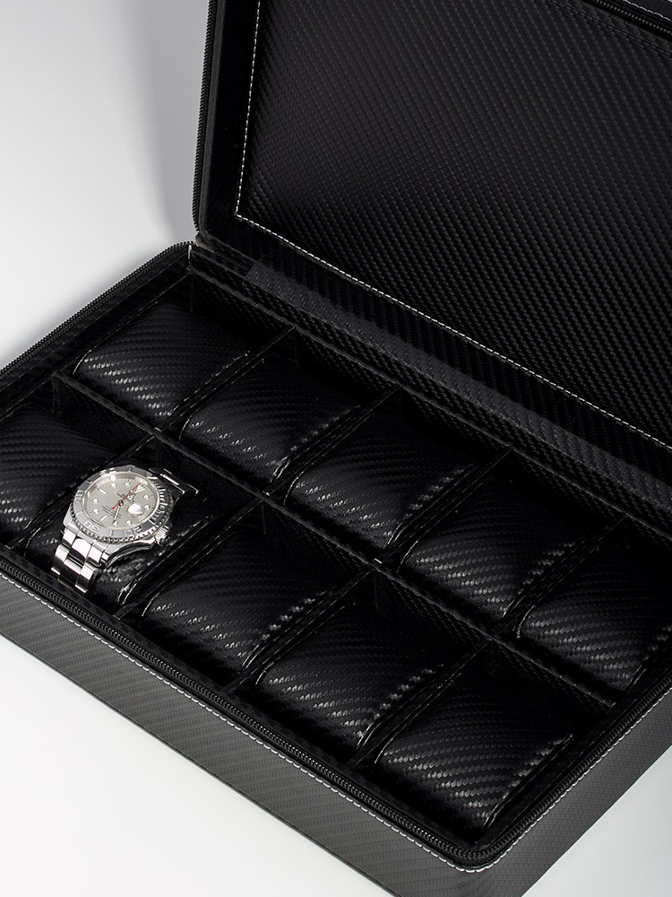 Rothenschild Watch Showcase RS-3250-10BL for 10 Watches carbon