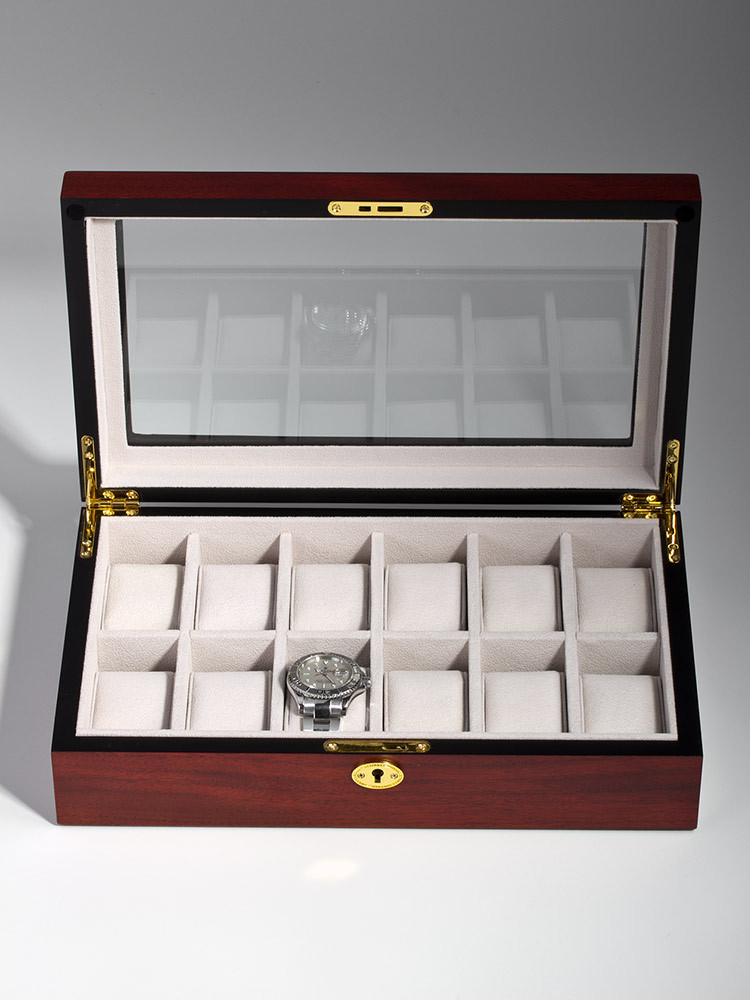 Rothenschild Watch Box RS-1087-12C for 12 Watches Cherry