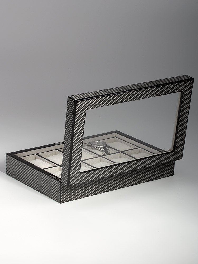 Rothenschild Watch Box RS-2071-10CA for 10 Watches carbon