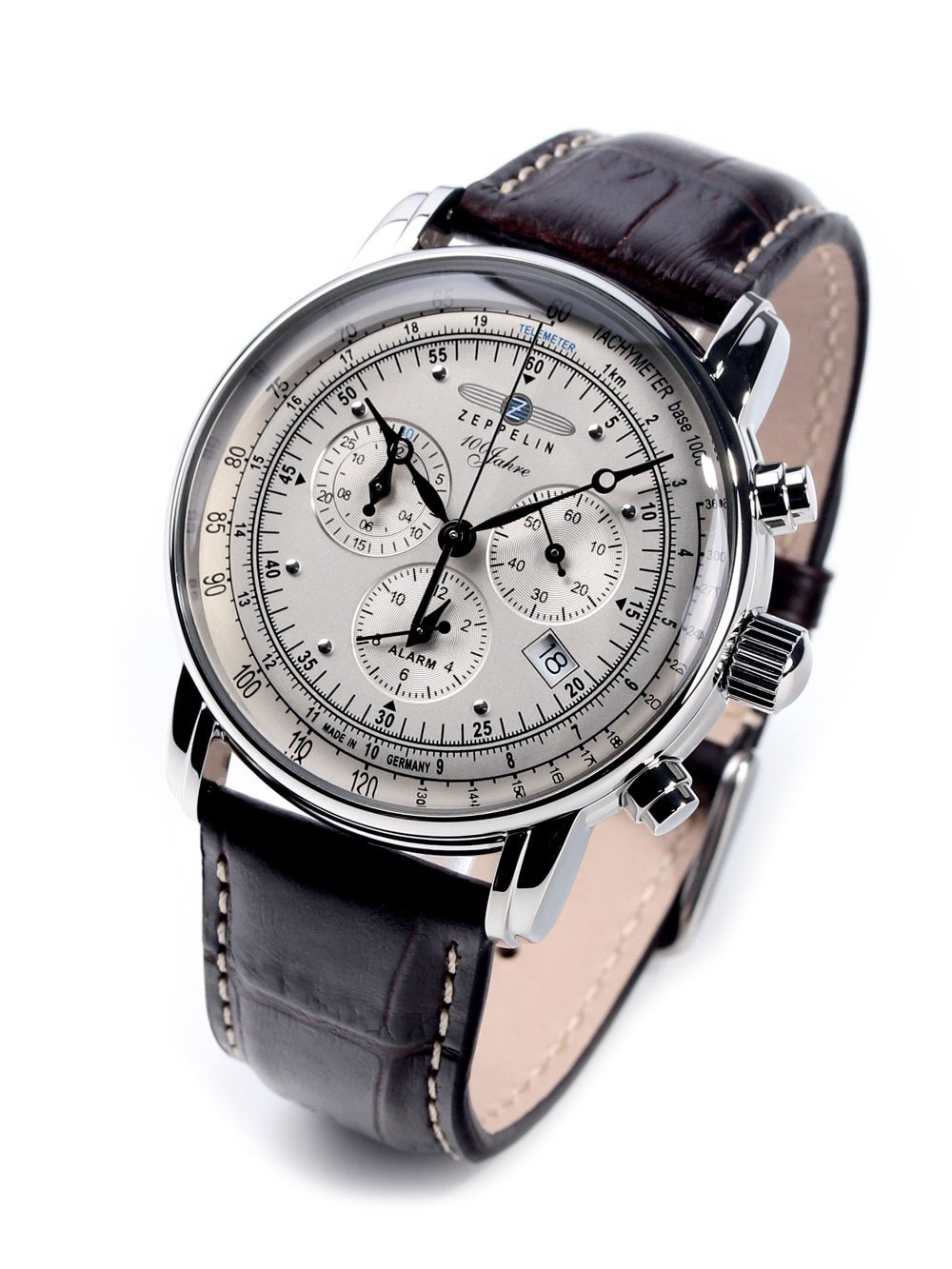Zeppelin 7680-1 100 Years Zeppelin Alarm Chronograph 42mm 5ATM