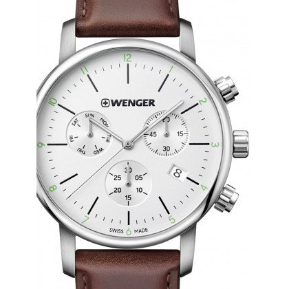 Wenger 01.1743.101 Urban Classic Chronograph 44mm 10 ATM