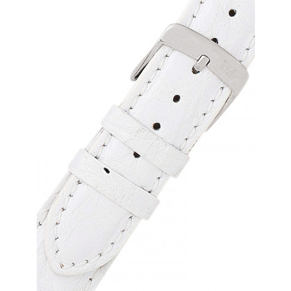 Morellato A01U0518339017CR18 White alligator Watch Strap 18mm