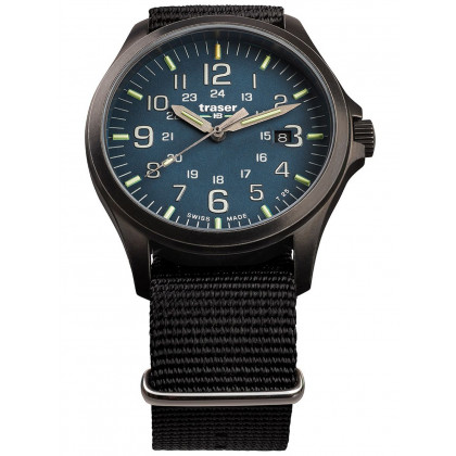 Traser H3 108632 P67 Officer GunMetal Blue men´s 42mm 10ATM