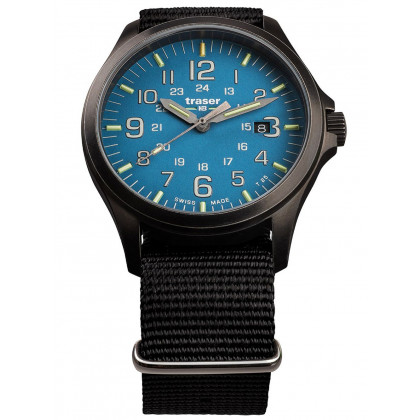 Traser H3 108647 P67 Officer GunMetal Skyblue men´s 42mm 10ATM
