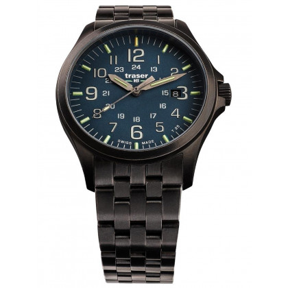 Traser H3 108739 P67 Officer GunMetal Blue men´s 42mm 10ATM