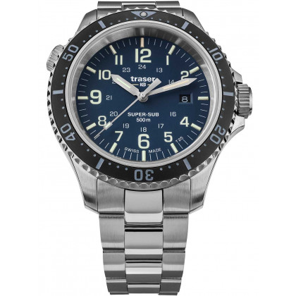 Traser H3 109375 P67 T25 SuperSub blue 46 mm diver 50ATM
