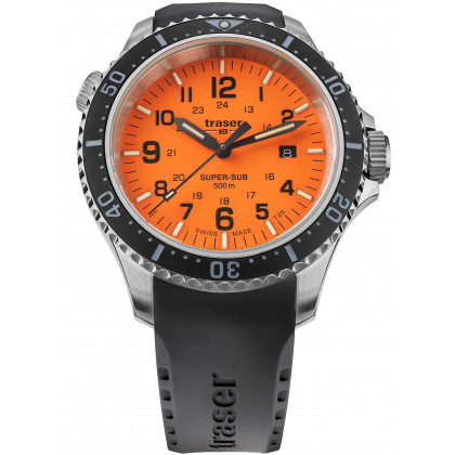 Traser H3 109380 P67 T25 SuperSub orange 46 mm diver 50ATM