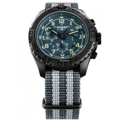 Traser H3 109050 P96 OdP Evolution petrol Chronograph 44mm 20ATM