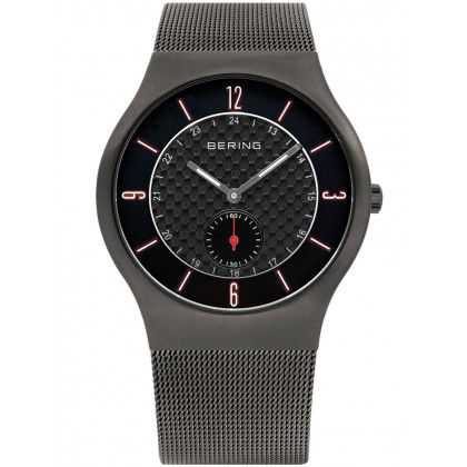 Bering Classic 11940-377 Men's Watch Gray carbon 40 mm