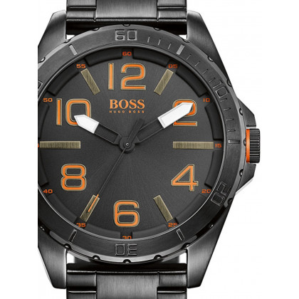 BOSS Orange 1513001 Steel Strap Black Men's 48 mm