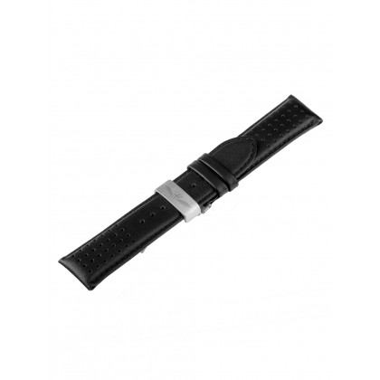Universal Replacement Strap [24 mm] black + silver folding clasp Ref. 23833