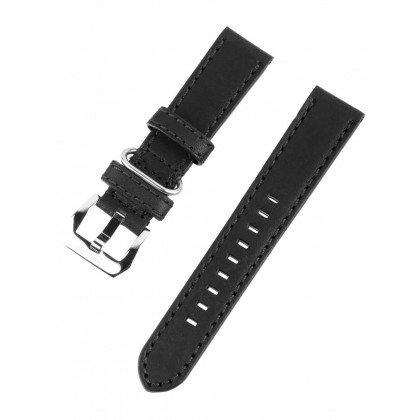 Ingersoll Bison strap [22 mm] black with silver clasp ref. 25050
